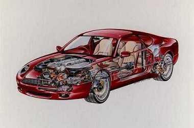 Crevé de l'Aston Martin DB7