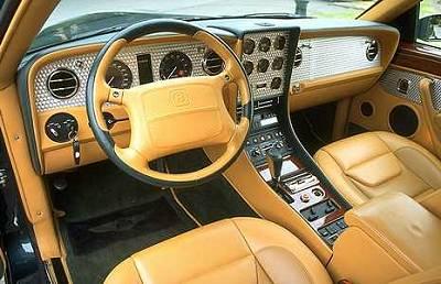 La Bentley Continental vue de l'intérieur