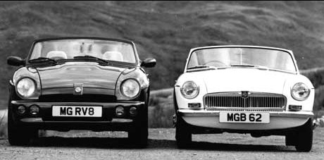 MG RV8 et MG B